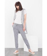 Esprit Volné žerzejové kalhoty, melírovaný vzhled