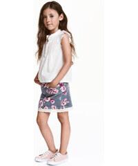 H&M Manšestrová sukně s krajkou