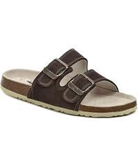 Pánská obuv Big Fish FX-113-14-99 hnědé zdravotní pantofle