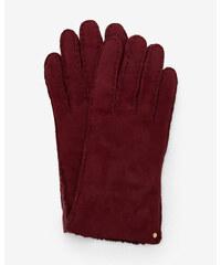 Ted Baker Handschuhe aus Wildleder und Lammfell Ochsenblut