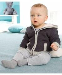 Klitzeklein Strickjacke für Babys KLITZEKLEIN grau 56,62,68,74,80,86