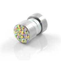 Trendhim 6mm Barevná zirkonová magnetická náušnice Q9-1-1033