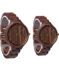 Lesara Partner-Armbanduhr aus Walnussholz - Für Herren