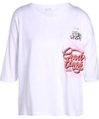 T-shirt pot pop-corn Blanc Modal - Femme Taille 0 - Cache Cache