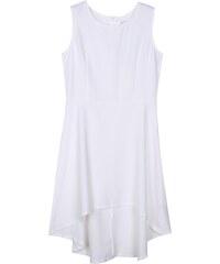Lesara A-Linien-Kleid mit verlängertem Saum - Weiß - S