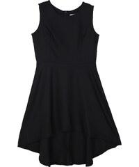 Lesara A-Linien-Kleid mit verlängertem Saum - Schwarz - S