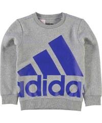adidas Oversized Logo Sweatshirt dětské Boys Grey/Blue