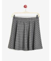 jupe motif zigzag avec lurex noire, grise et argentée Jennyfer