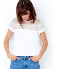 T-shirt manches courtes avec détail en dentelle Etam