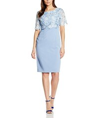 Gina Bacconi Damen Kleid Organza Overtop with Crepe