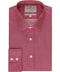 Pánská košile Hawes & Curtis Červené & Bílé pruhy