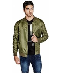 GUESS GUESS Ryker Nylon Bomber Jacket - olive