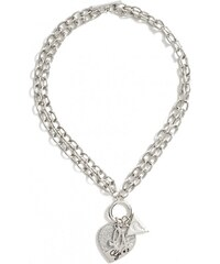 GUESS GUESS Silver-Tone Heart Chain Bracelet - silver