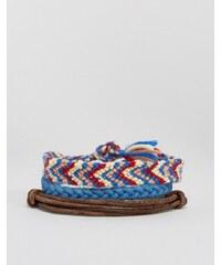 Hollister - Lot de 3 bracelets tissés - Multi