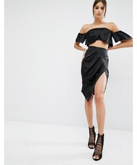 Kendall Kylie - Jupe crayon fendue sur le devant - Noir