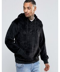 Nicce London - Fleece-Kapuzenpullover mit gesticktem Logo - Schwarz