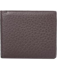 Real_Leather Leder-Klapp-Geldbörse im klassischen Design - Braun