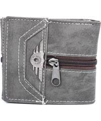 Lesara Geldbörse mit Reißverschluss-Applikation - Grau