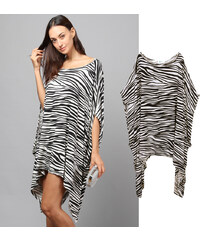 Lesara Tunika mit Zebra-Print - S