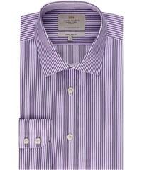 Pánská košile Hawes & Curtis Fialové & Bílé pruhy