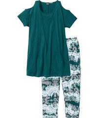 bpc bonprix collection Pyjama corsaire pétrole manches courtes lingerie - bonprix