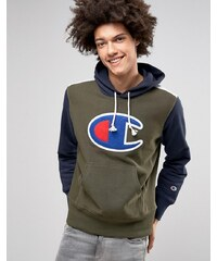 Champion - Sweat à capuche avec grand logo - Vert