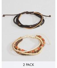 Classics 77 - Lot de bracelets avec cordon et perles de bois - Multi