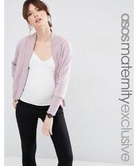 ASOS Maternity - Cardigan confort style sweat côtelé - Violet