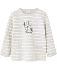 MANGO BABY Gestreiftes Baumwoll-Shirt