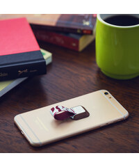 Lesara Ungrip Fingerschlaufe für Smartphones Print - Wood Mustache