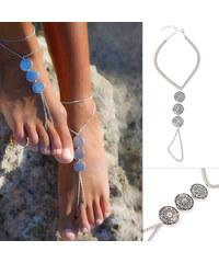 Lesara 2er-Set Fußkette mit Münz-Elementen