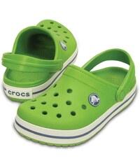 Crocs Dětské sandály Crocband Kids Parrot Green White