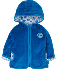 G-mini Chlapecký velurový kabátek Autíčka - modrý