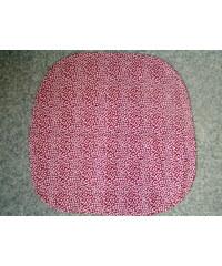 Dadka Povlak na sedák nebo kuchyňský sedák lístečky bílé 40x40
