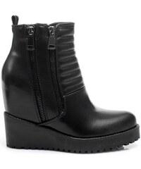 SERGIO TODZI Černé kotníčkové boty na platformě