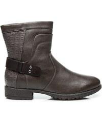 SUPER ME Dokonalé šedé dámské kotníčkové boty