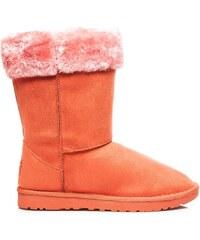 TORNA Dámské sněhule s kožíškem - oranžové