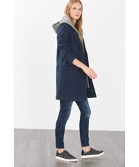 Esprit Kabát z vlněné směsi s kapucí