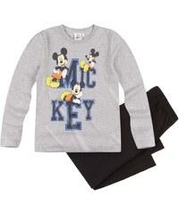Disney Mickey Pyjama schwarz in Größe 98 für Jungen aus 100% Baumwolle Grau: 60% Baumwolle 40% Polyester