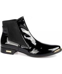 STROLL Lakovaná černá kotníková obuv Stroll WW2540 EUR 36