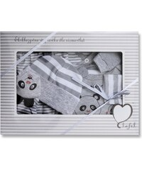 Lafel Chlapecký kojenecký set Panda - šedý