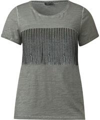 Street One - T-shirt à paillettes Gila - dusty olive