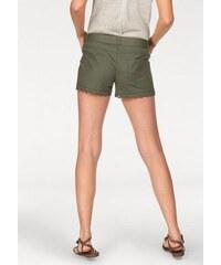Aniston Damen Shorts mit Häkelspitze etwas niedrige Leibhöhe grün 34,36,38,40,42,44