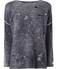 Lieblingsstück Oversized Pullover mit Sternen-Stickereien