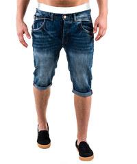 Lesara Jeansshorts mit Beinumschlag - S