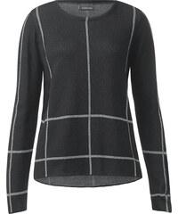 Street One Pullover mit Karo Anya - Black, Damen