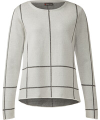 Street One Pullover mit Karo Anya - weiß, Damen