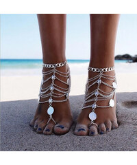 Lesara 2er-Set Fußkette im Boho-Style
