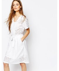 Paul By Paul Smith - Robe en broderie anglaise - Blanc