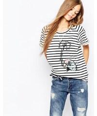 Paul by Paul Smith - T-shirt à rayures avec imprimé perroquet - Multi